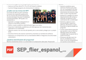 SEP Spanish flier thumbnail
