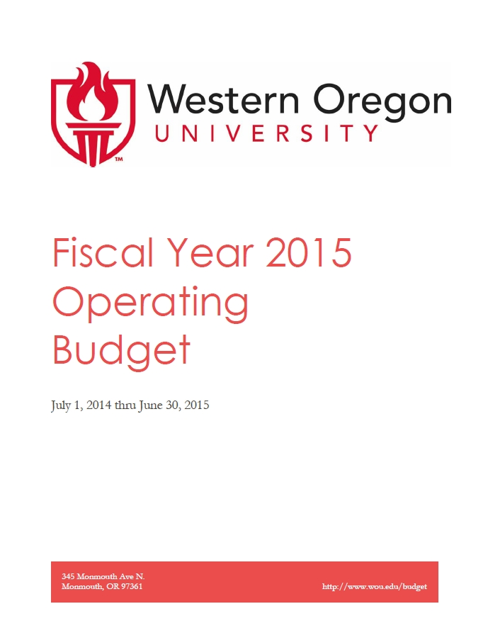 FY15 Budget Book