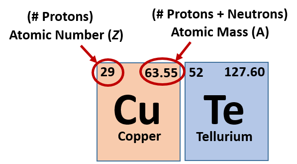 each element on the periodic table is represented by the atomic symbol cu for copper and te for tellurium sometimes the atomic number is written in - In The Periodic Table As The Atomic Number Increases From 11 To 17