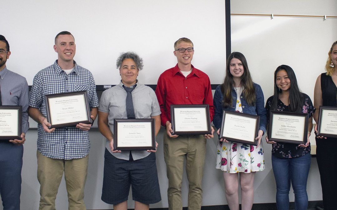 2018 Outstanding Student Awards in Community Health & Exercise Science