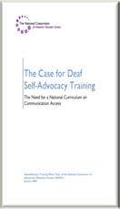 The Case for Deaf Self Advocacy Training