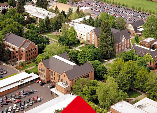 WOU campus from above