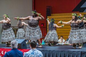 Luau dancers on stage