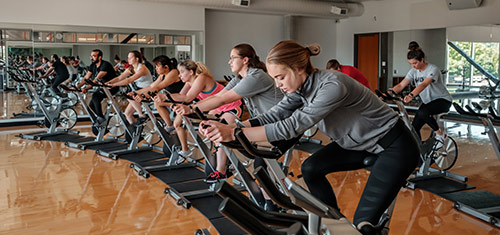 Spinning class at WOU