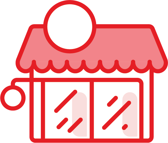 An image of a store to represent the Voucher program.