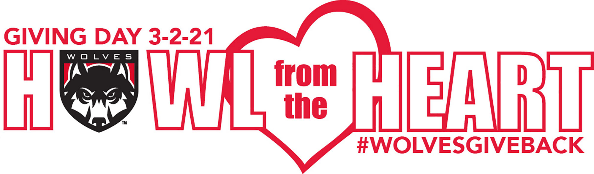 Giving Day 3-2-21 Howl from the heart #wolvesgiveback