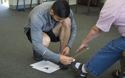 Students lead fitness program at senior center