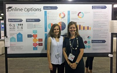 Community Health professor and grad student present at nutrition education conference