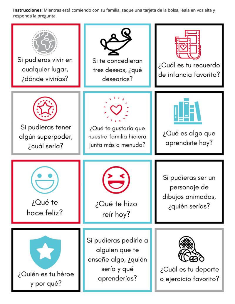 Conversation Cards (English & Spanish)