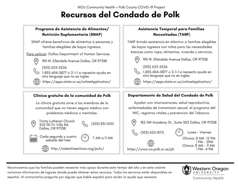 Resources in Polk County Insert (English & Spanish)