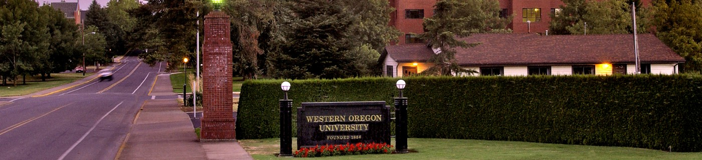 WOU sign