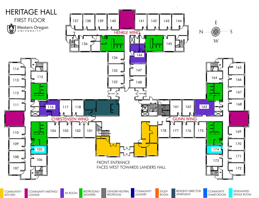 Heritage Hall Map Housing And Dining