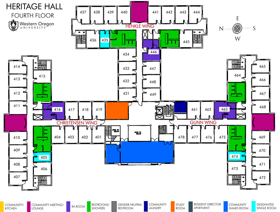 Heritage Hall Map - Housing and Dining
