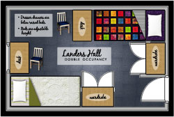 Landers Hall Double Room Icon