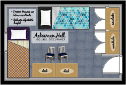 ackerman hall double occupancy icon