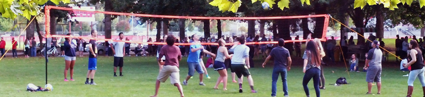 Volleyball in the Grove, New Student Week