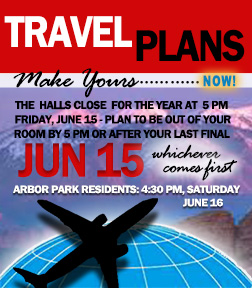 Travel Plans - Make em for Fall Term Closure