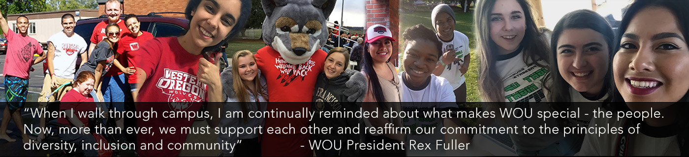 The People of WOU and President Rex Fuller