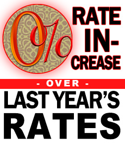 Zero Percent Rate Increase!