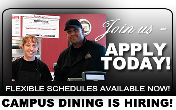 Campus Dining is Hiring!