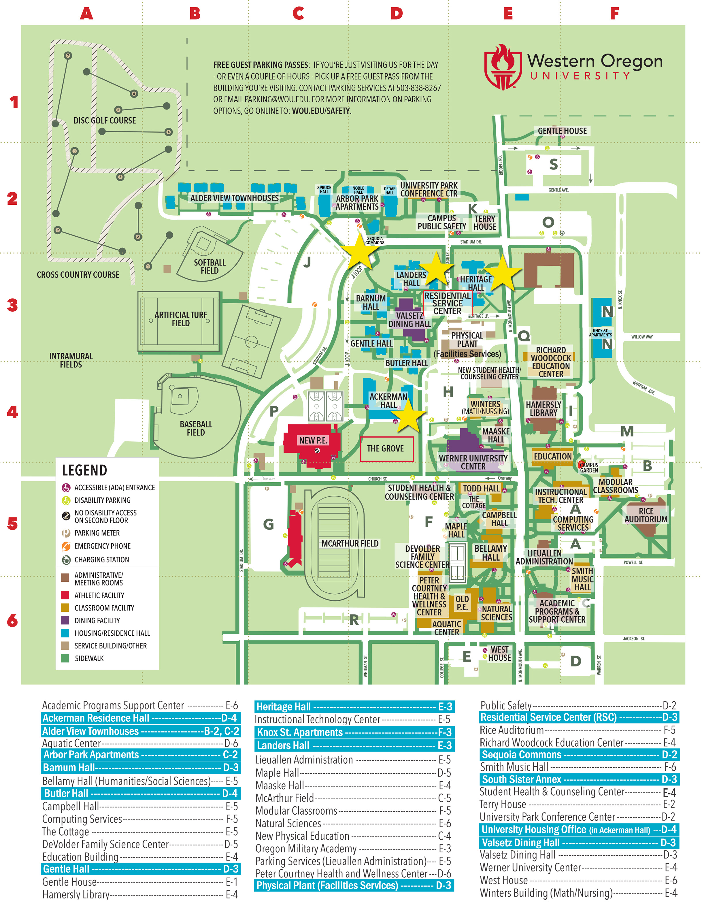 western oregon university campus map Common Questions 2 Housing And Dining western oregon university campus map