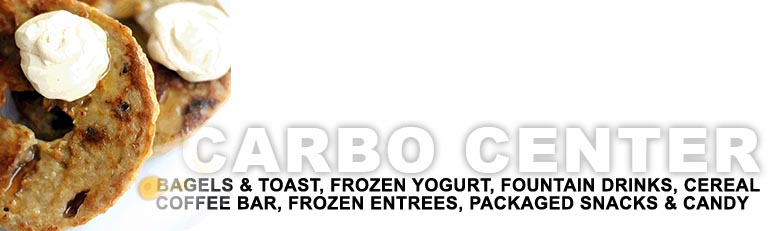 Carbo Center - Toast and Bagels, Drinks, Coffee Bar and packaged and frozen snacks and entrees