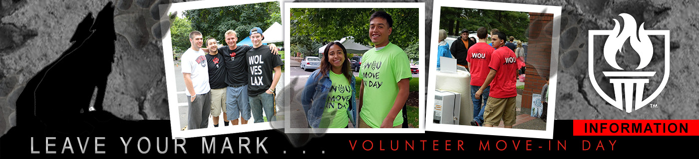 Volunteer to help out on Move-In Day