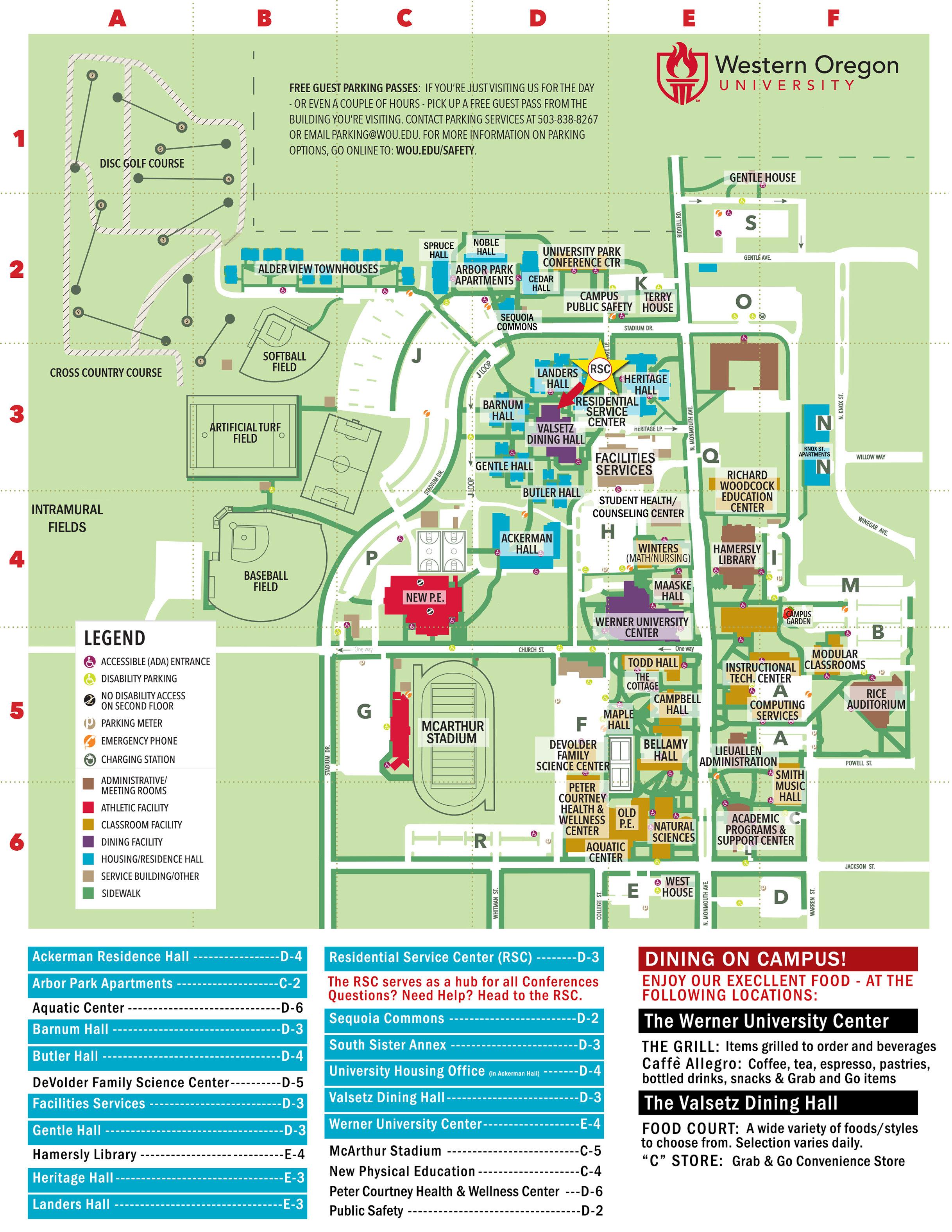 Residence Hall Map – Housing and Dining