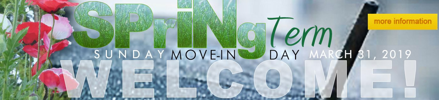 Spring Term Move In, March 31, 2019