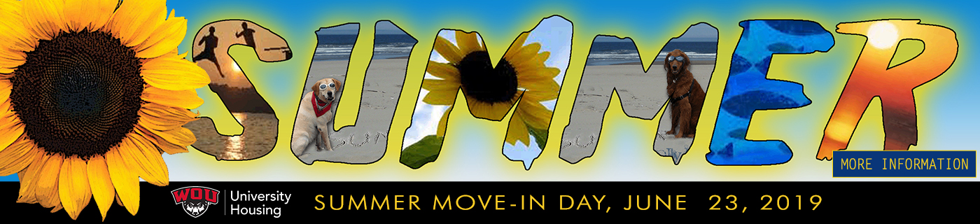 Summer Move In Day Sunday, June 23, 2019 - 10 AM - 5 PM