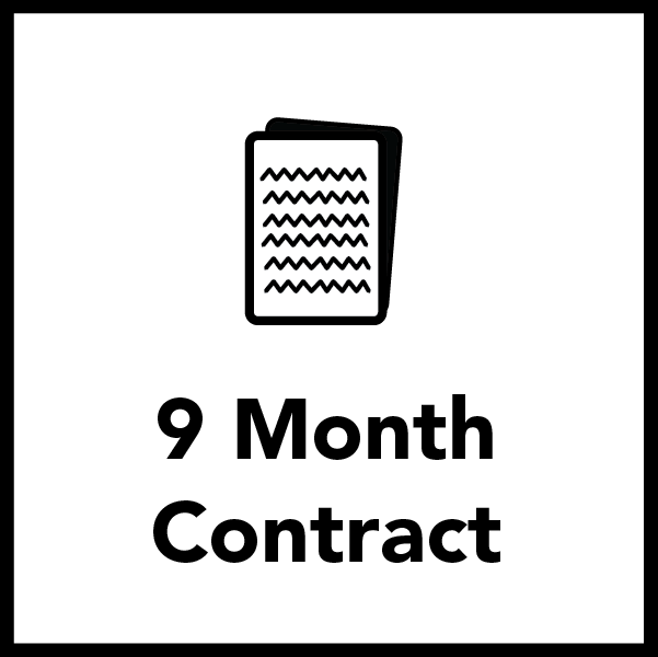 Nine Month Contract for Residents - PERFECT for the Academic Year!