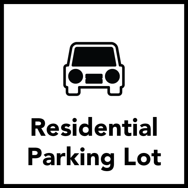 Residential Students have their own Parking Lot!