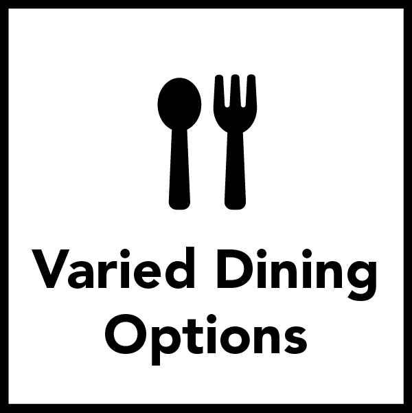 Varied and Healthy Dining Options are included for Residential Students.
