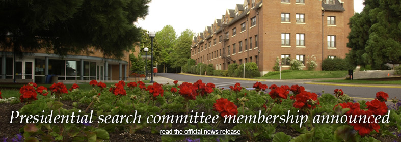 Presidential search committee membership announced. Click here to read the official news release.