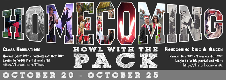 Homecoming October 20th-25th. Click here for more information.
