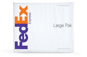 FedEx Express Large Pak made from polyethylene