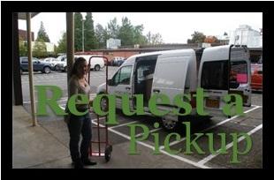 request a pickup