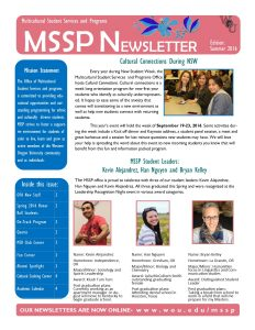 Summer 2016 Newsletter Cover page