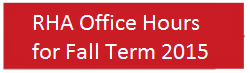 Office Hours Fall 2015