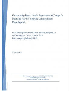 Community-based Needs Assessment Cover