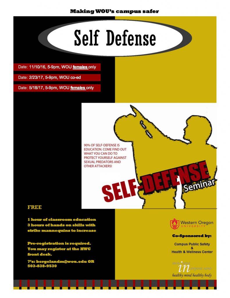 2016/2017 Self-Defense Flier
