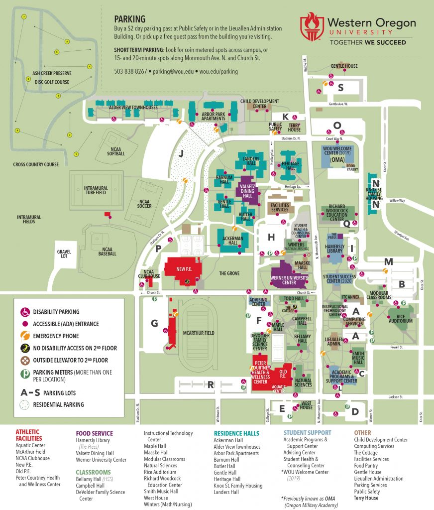WOU Campus Map