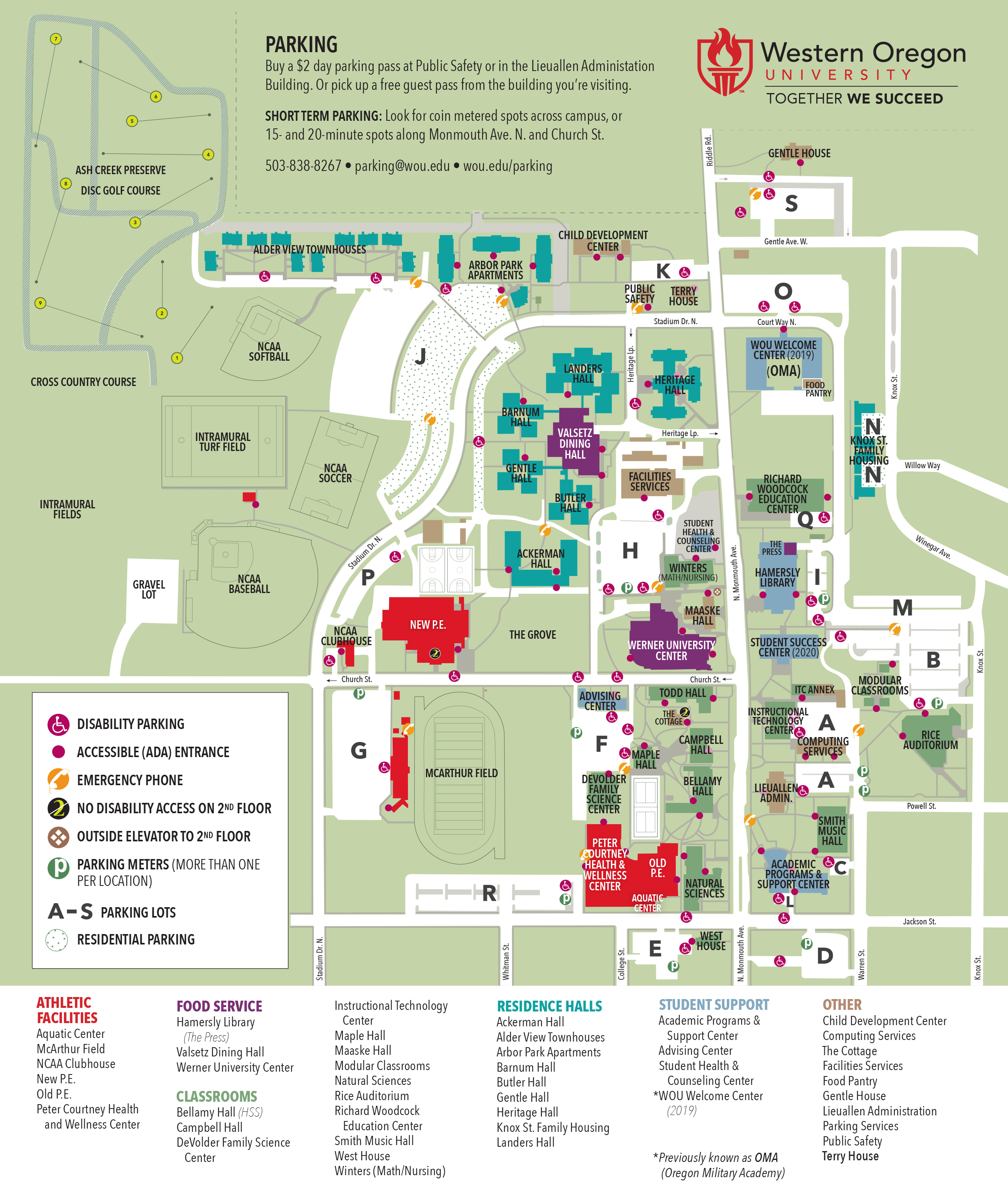 Western Oregon Campus Map.Campus Map Campus Public Safety