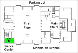 Location of the Science Center in the library