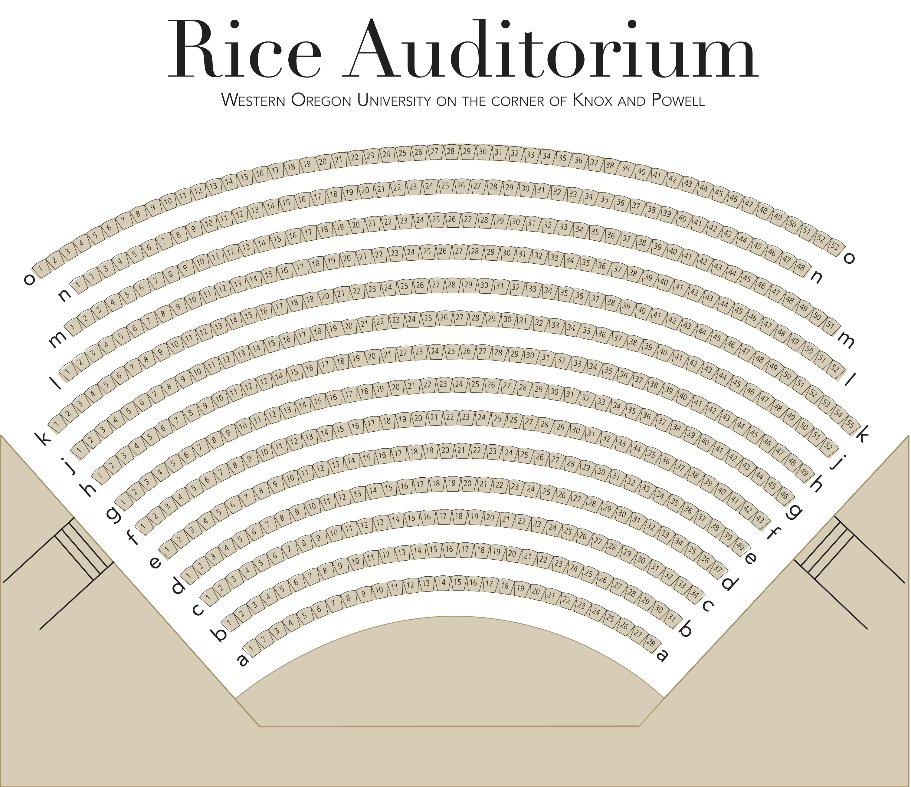 Rice Aud Seating Chart