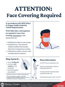 WOLF Ride face covering policy