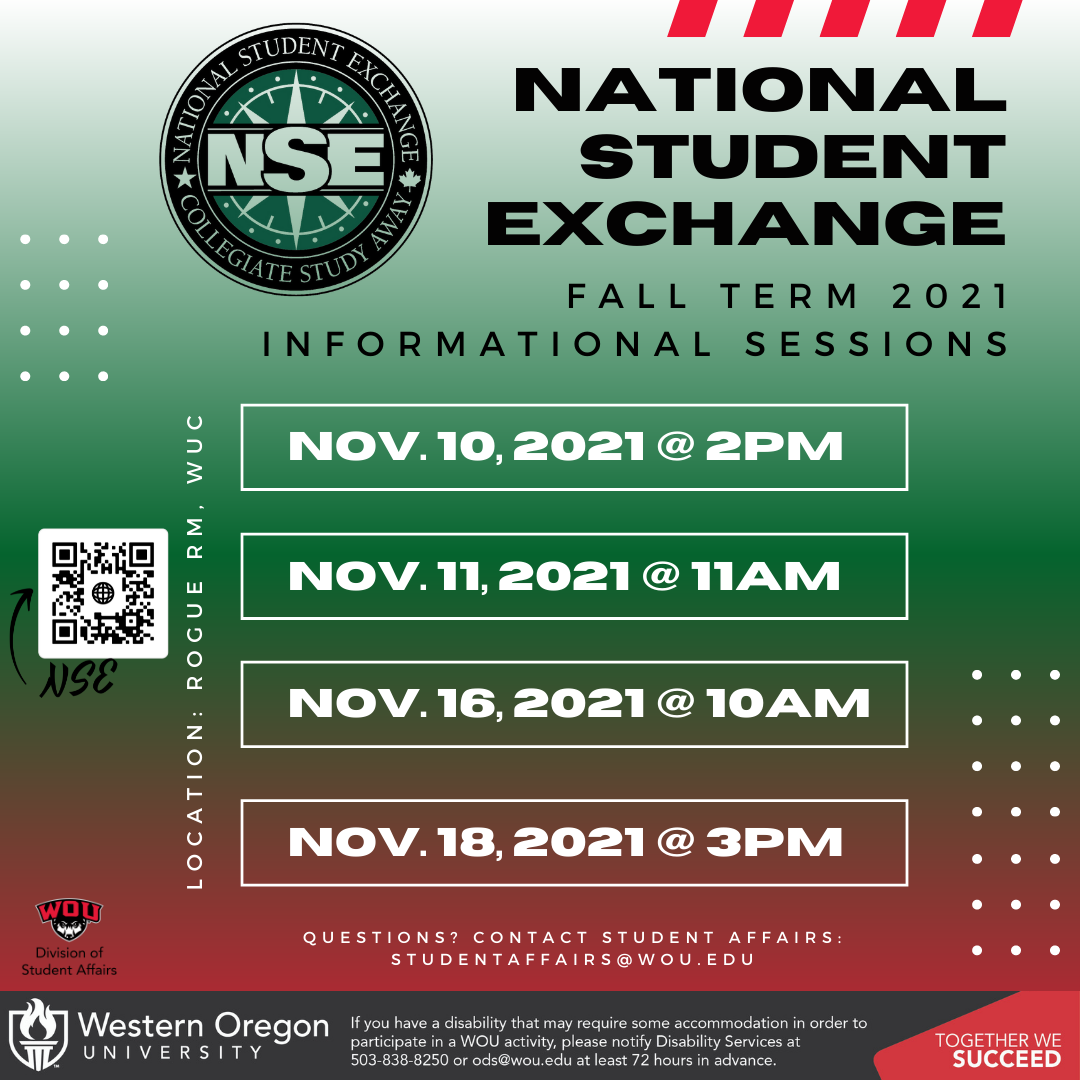 NSE Fall 2021 Info Sessions