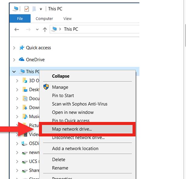 Network Drives Windows step 2