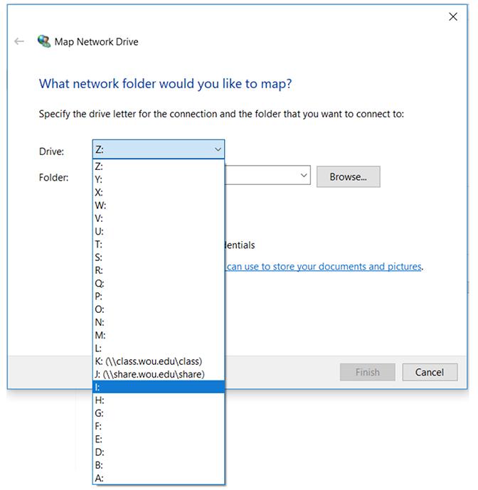 Network Drives Windows step 3
