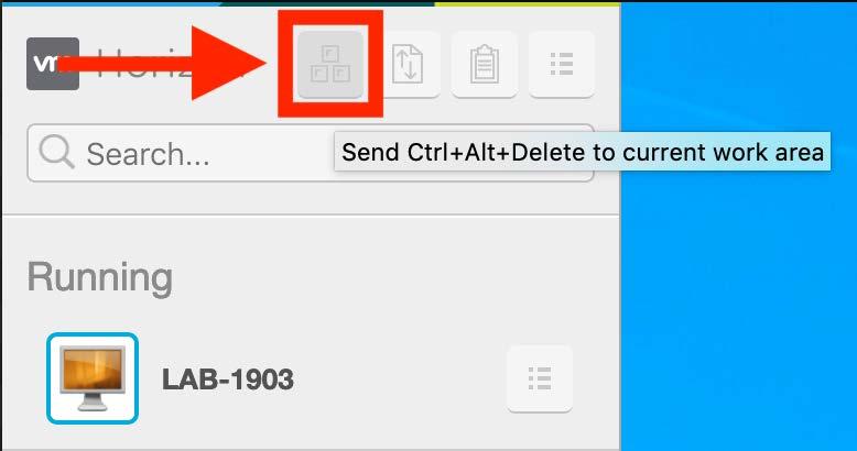 Send Ctrl Alt Delete step 2
